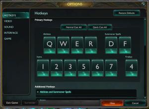 quickcast menu